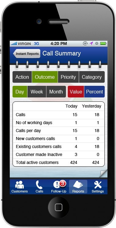 Mobile Sales App Screenshot 1