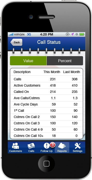 Mobile Sales App Screenshot 2