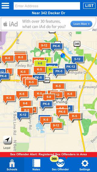 School Locator App Screenshot 1