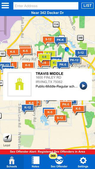 School Locator App Screenshot 2