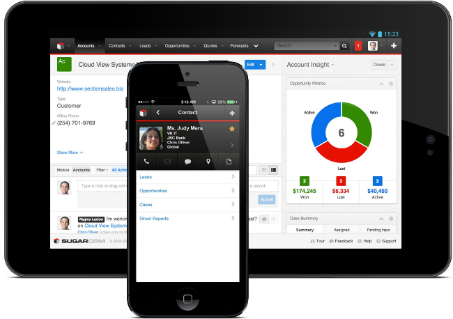 SugarCRM Mobile App