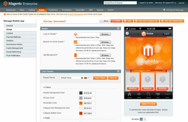 Magento Mobile Commerce