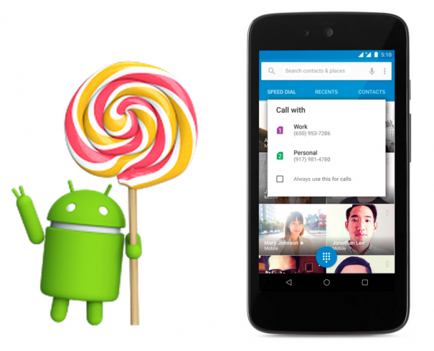 Android Lollipop updated to 5.1