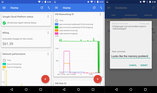Cloud Platform Management App for iOS and Android