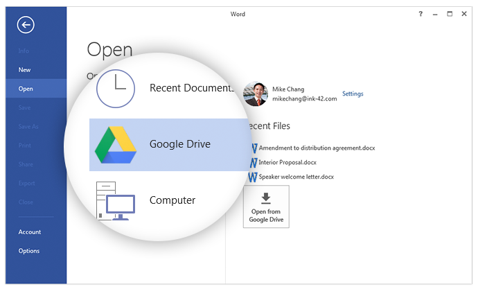 google drive ms office