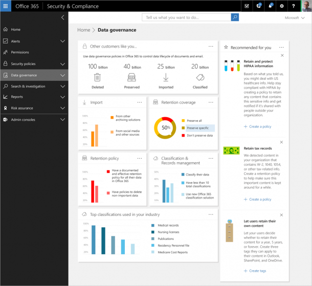 Microsoft Launches Advanced Data Governance For Office 365