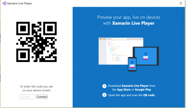 Microsoft's New Release Xamarin Live Player For VS
