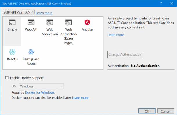 2nd Preview Of ASP.NET Core 2 Now Available