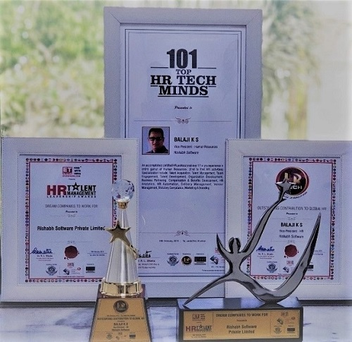 "Rishabh Software Awarded With ""Dream Companies to Work For"" For The Year 2019"