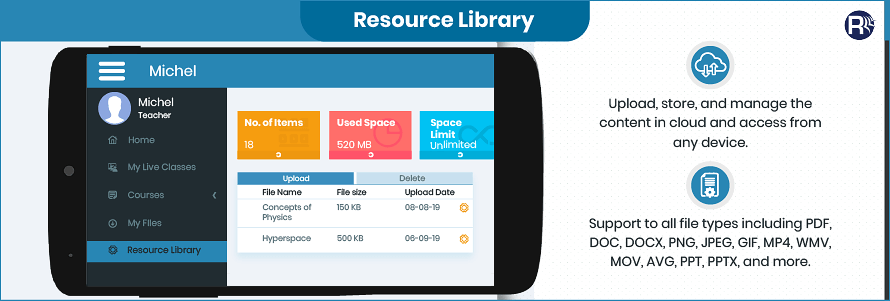 Virtual-Classroom-Mobile-Solution-Resource-Library-Module
