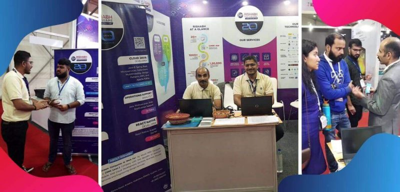 Rishabh Software Booth at Vibrant Startup And Technology Summit (VSTS) 2019