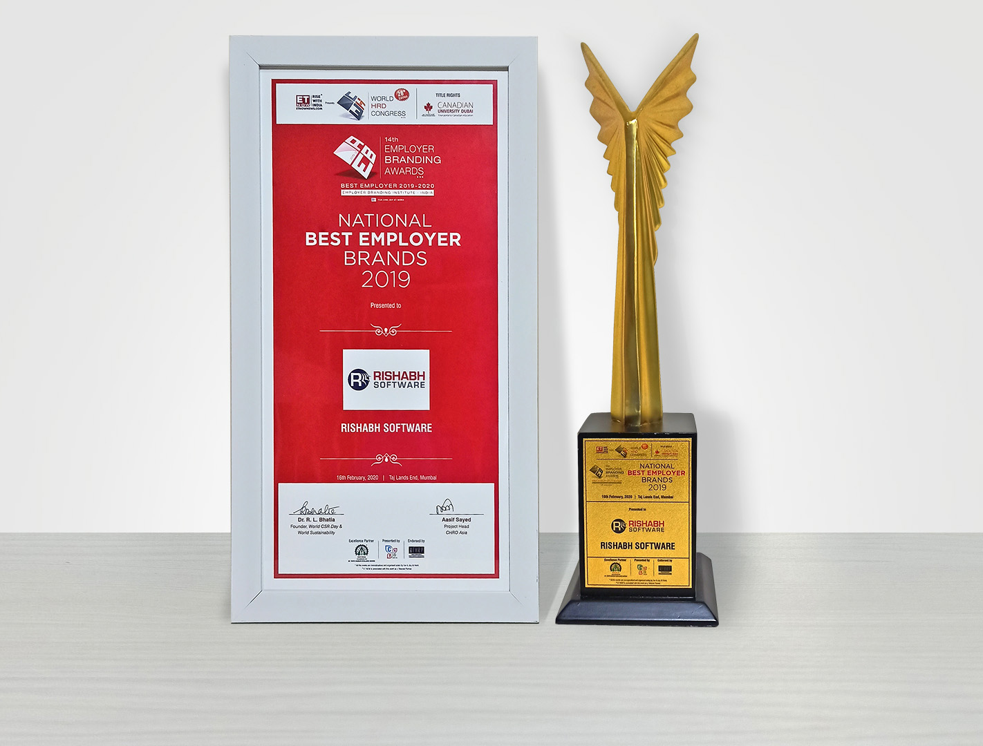 Felicitated as 'National Best Employer Brand' by World HRD Congress