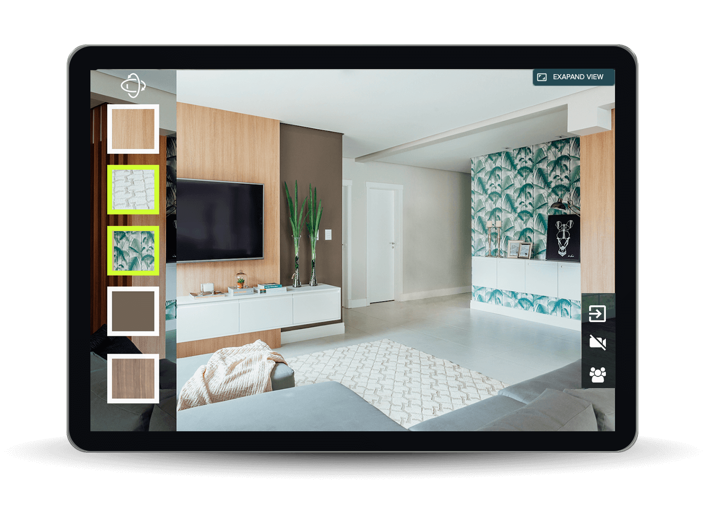 Real-time product visualization using the AR app