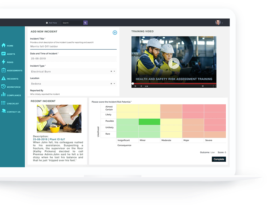 New Incident Reporting Module - Cloud-based Occupational Safety & Health Management Solution