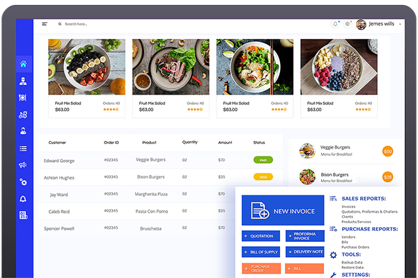 Online food ordering and delivery software