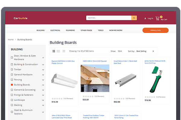 Developing an Online Building Material Ordering System