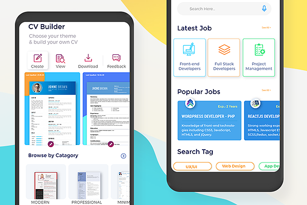 CV builder and job search mobile app
