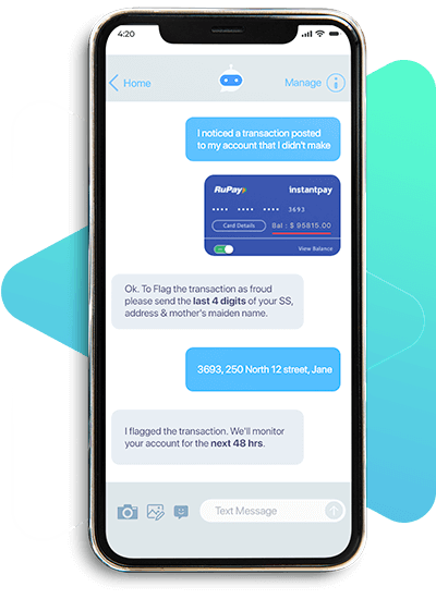 Chatbot help assistance during suspicious transactions or fraud